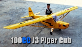 NitroModels J3 Cub 100cc Gas RC Plane Kit (Yellow)