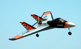 "NitroModels Kangaroo 46 - 47.3"" Nitro Gas Radio Controlled RC Pusher Jet (ARF Jet Model with Speed of over 100 MPH)"