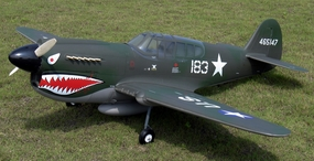 NitroModels P-40E Warhawk 40 ARF Authentic full-scale Flying Tiger ARF
