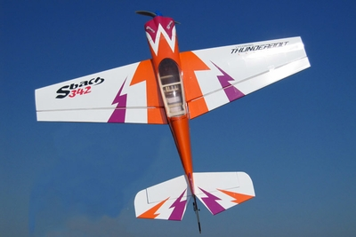 Nitroplanes 4 Channel RC EP Sbach 342 Balsa Wood 1238 Wingspan Kit (Orange)