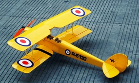 On Sale! WWII-era 4-CH Brushless Electric DeHaviland Tiger Moth Bi-Plane Radio Remote Controlled RC Replica Airplane