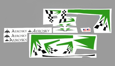 One set of Stickers (Green)