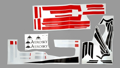 One set of Stickers (Red) 05A330-29-DecalStickers-Red