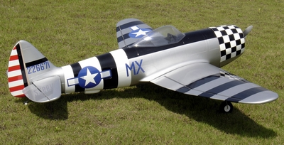 "P-47 Thunderbolt 120 - 66.5"" Scale Nitro Gas Radio Remote Control Warbird Airplane"