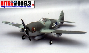 "P-47 Thunderbolt 120 - 71"" Scale Nitro Gas Radio Remote Control Warbird Airplane"