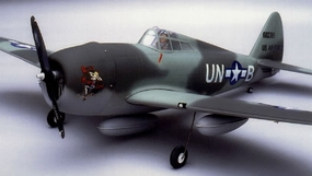 "P-47 Thunderbolt 52 - 56"" Scale Nitro Gas Radio Remote Control Warbird Airplane"