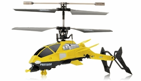Pantoma 3.5 Channel IR Control Transforming Helicopter with Gyro (Yellow) RC Remote Control Radio