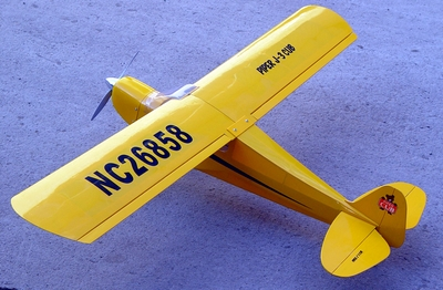 "Piper J-3 Cub 25 - 50"" Scale Nitro Gas Radio Remote Control Airplane"