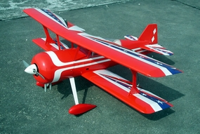 "Pitts Special 120 - 60"" Nitro Powered  Control RC Bi-Plane ARF (Almost-Ready-to-Fly) RC Remote Control Radio"