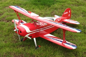 "Pitts Special Challenger 40 - 42.5"" ARF Nitro Gas Powered  led BiPe Airplane RC Remote Control Radio"