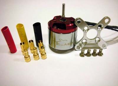 Raiden Outrunner Brushless Motor 500DF-2650kv w/3sets gold connector + X mount