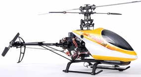 Receiver-Ready Dynam E-Razor 250 Pro RC Helicopter w/ CNC Upgraded Rotor Head, Brushless Motor+ESC, LiPo Battery
