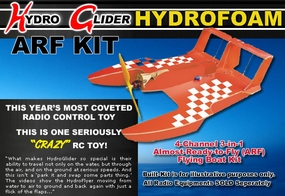 RED Radio Remote Control HydroGlider (HydroFoam RC Airplane) 4-Channel RC 3-in-1 Boat Plane Vehicle ARF Flying ARF Kit