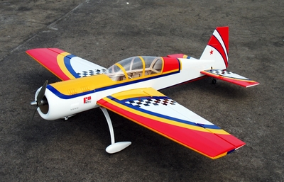 "Red Yak 52 3D 50 - 56"" Version 2 Nitro Gas  led Aircraft Almost-Ready-to-Fly ARF RC Remote Control Radio"