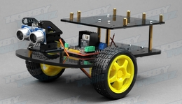Remote Control Ultrasonic Ranging Smart Car Kit For Arduino
