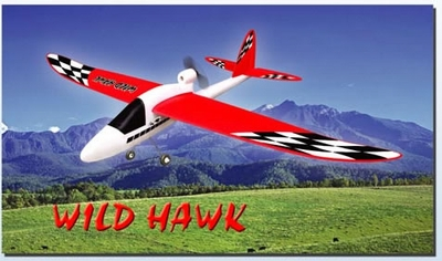 "RTF Wild Hawk 54"" Electric 3-Channel Radio Remote Control RC Airplane Ready to Fly w/ EPP Fuselage and Wings"