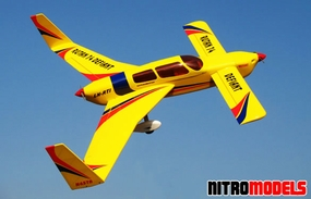 Rutan 74 Deflant Yellow ARF Twin Engine Nitro Gas Radio Remote Controlled Airplane
