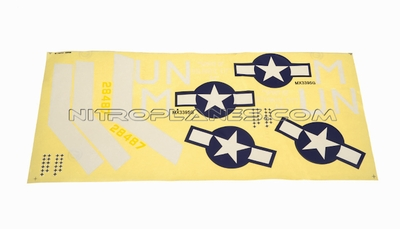Silver Decal for AirField RC P47 750mm