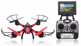 SKY Hawkeye 1315S 5.8G 4CH RC RTF Black Quadcopter with Real-time Transmission with 4GB SD card RC Remote Control Radio
