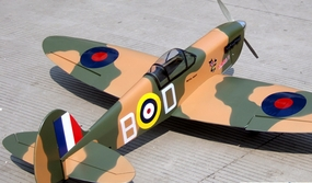 "Spitfire 60 - 63"" Warbird ARF Radio Remote Controlled Airplane Nitro Fuel Powered RC WW2 Aircraft"