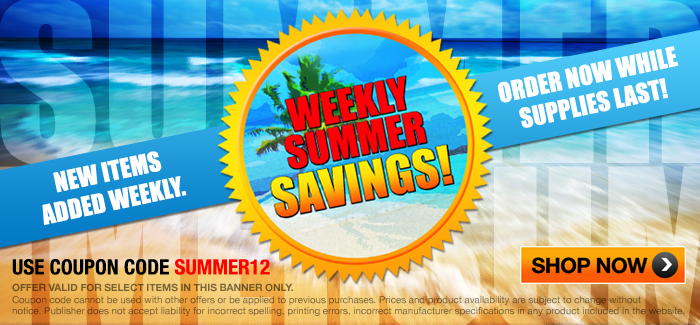 Summer Sale Extra 12% OFF Top Sellers. Enter Code SUMMER12 at Check-out.