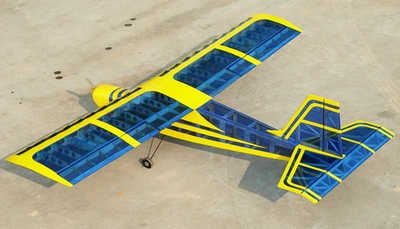 "Super Senior 60 - 80"" Nitro RC Plane Kit (Transparent Blue Aircraft)"