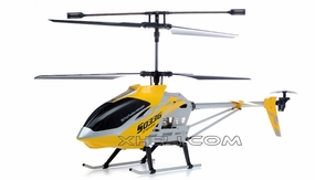 SUPER SIZED Syma S033G 3 Channel Co-axial RC Electric Helicopter w/ LED Lights & Gyroscope RTF (Yellow)