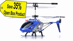 Syma 3 Channel S107 Mini Indoor Co-Axial Metal Body RC Helicopter w/ Gyro Blue (Refurbished Open Box)