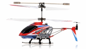 Syma 3 Channel S107G Mini Indoor Co-Axial  RC Helicopter w/ Gyro (Red) RC Remote Control Radio