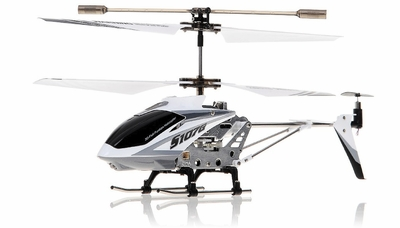 Syma 3 Channel S107G Mini Indoor Co-Axial  RC Helicopter w/ Gyro (White) RC Remote Control Radio