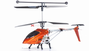 Syma S006G Alloy Shark RC Remote Control Metal Frame Helicopter w/ Gyroscope (Orange) S006G-AlloySharkHeli-Orange