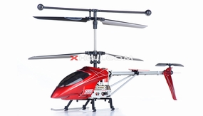 Syma S006G Alloy Shark RC Remote Control Metal Frame Helicopter w/ Gyroscope (Red) RC Remote Control Radio