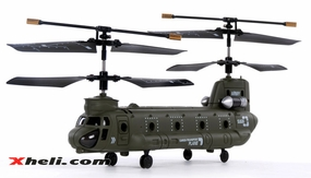 Syma S026G Micro Chinook 3 Channel Indoor Ready to Fly RC Remote Control Military Cargo Transport Helicopter w/ Gyro RC Remote Control Radio