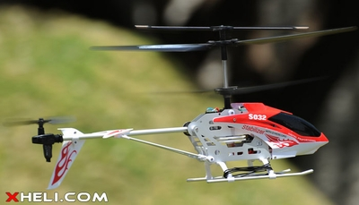 Syma S032 3 Channel Co-axial RC Electric Helicopter w/ Gyroscope RTF (Red) RC Remote Control Radio