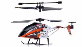 Syma S110G 3-Channel RC Indoor Mini Micro Palm Size Co-Axial Infared RC Helicopter w/ Built in Gyro (Orange) RC Remote Control Radio