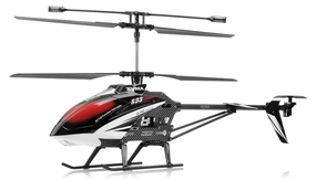 Syma S33 3 Channel RC Helicopter 2.4ghz (Black) RC Remote Control Radio