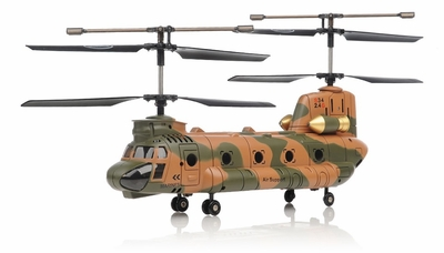 Syma S34 3 Channel Chinook RC Helicopter 2.4ghz (Camo) RC Remote Control Radio