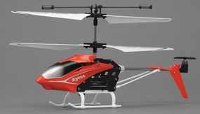 Syma S5 Infrared 3CH RC Helicopter with Gyro (Red) RC Remote Control Radio