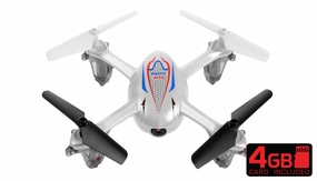 SYMA X11C 2.4G 4CH 6 Axis RC Quadcopter Drone with 2.0MP Camera 360 Degree Flip Function w/ 4GB Memory Card (White) RC Remote Control Radio