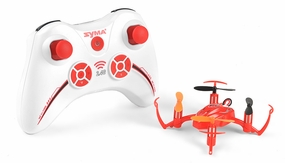Syma X2 Mini 4 Channel Quadcopter Ready to Fly 2.4ghz with Gyro (Red) RC Remote Control Radio