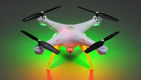 Syma X5HC Explorers Hover Headless Camera 2.4G 6-axis Gyro Quadcopter  Ready to Fly (White)+4GB Memory Card