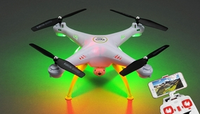 Syma X5HW  Explorers Hover WiFi FPV Camera 2.4G 6-axis Gyro Quadcopter  Ready to Fly (White)