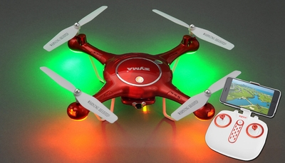 Syma X5UW Hover WiFi FPV Camera 2.4G 6-axis Gyro Quadcopter  Ready to Fly w/ 8GB Memory Card