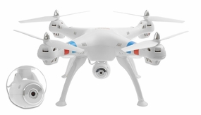 Syma X8C Venture 4 CH 2.4 Ghz RC Quadcopter Drone with HD Camera 6 Axis 3D Flip w/ 4GB Memory Card (White) RC Remote Control Radio