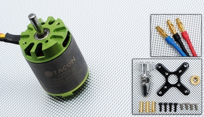 Tacon Big Foot 15 Brushless Out Runner Motor for Airplane (950KV) 96M602-Bigfoot15-2826-950Kv