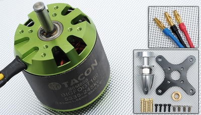 Tacon Big Foot 160 Brushless Out Runner Motor for Airplane (245KV) 96M608-Bigfoot160-5335-245Kv