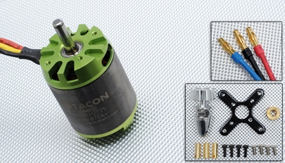 Tacon Big Foot 25 Brushless Out Runner Motor for Airplane (870KV) 96M603-Bigfoot25-2826-870Kv