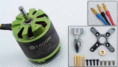 Tacon Big Foot 32 Brushless Out Runner Motor for Airplane (770KV)