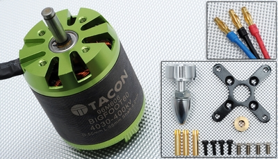 Tacon Big Foot 60 Brushless Out Runner Motor for Airplane (400KV)