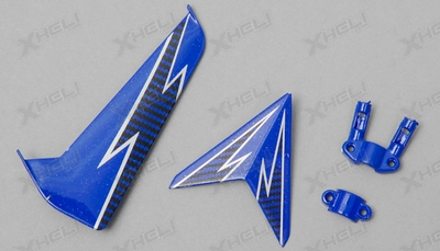 Tail decoration blades (Blue)